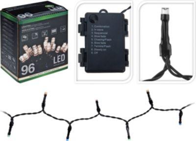 HS H&S Lichterkette batteriebetrieben 96 LEDS warm weiss