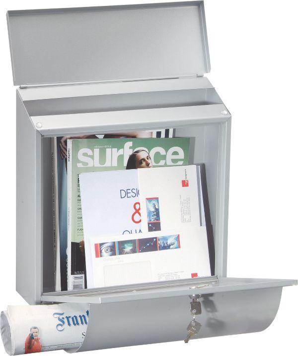 Rottner Wallersee Briefkasten Zeitungsbox in der Frontplatte integriert