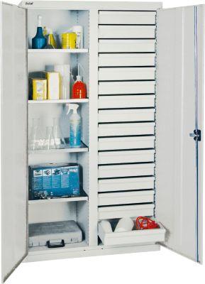 stumpf serie 2000 werkzeugschrank mit mitteltrennwand 16 schubladen und 4 fachb den lichtgrau. Black Bedroom Furniture Sets. Home Design Ideas