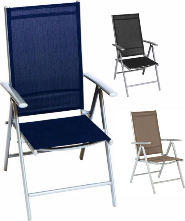 Merxx alu klappsessel amalfi vers farben gartensessel gartenstuhl klappstuhl ebay - Merxx gartenstuhl ...