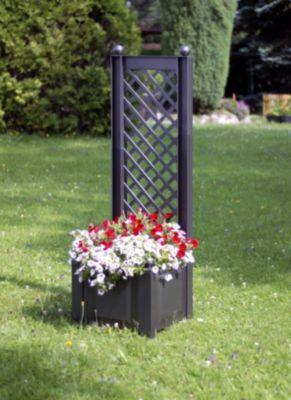 Pflanzkasten mit Spalier 43 cm Anthrazit