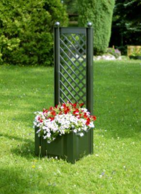 Pflanzkasten mit Spalier 43 cm Grün