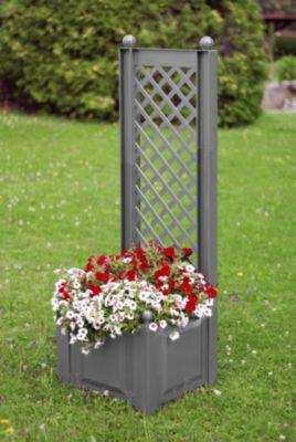 KHW Pflanzkasten mit Spalier 43 cm Grau | Garten > Pflanzen > Pflanzkästen | KHW
