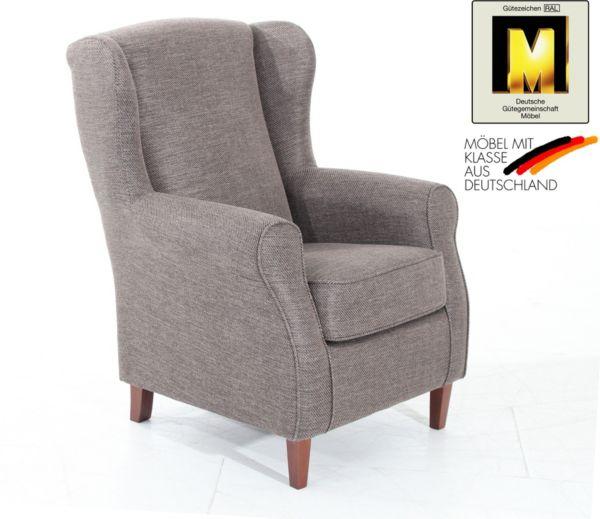 max winzer ohrenbackensessel lione versch farben fernsehsessel polstersessel ebay. Black Bedroom Furniture Sets. Home Design Ideas