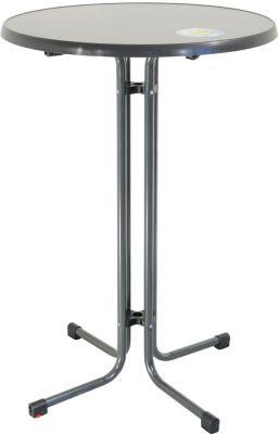 MFG Freizeitmöbel 4-Fuß-Stehtisch klappbar ca. Ø 85 cm, anthrazit