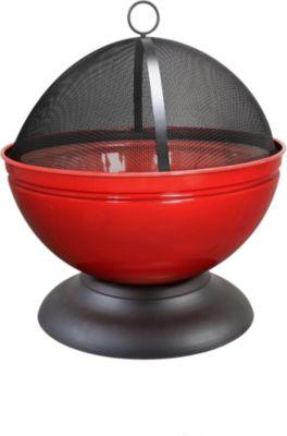 Globe Feuerschale, rot