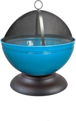 Globe Feuerschale, blau