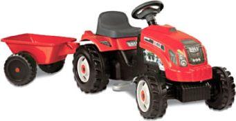 GM Traktor rot mit Anhänger