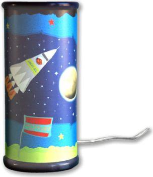 Tischleuchte Weltraum inkl. Kerze LED 1-flg.