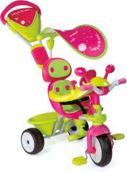 4-in-1 Dreirad Baby Driver Komfort Girl