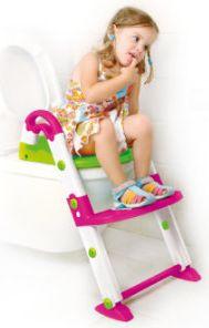 Toilettentrainer Kidskit 3-in-1 pink, weiß, grün