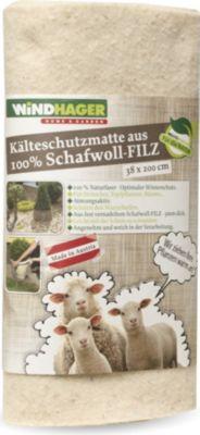 Schafwollfilzmatte weiß 0,38 x 2 m