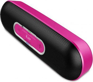 iLuv  Rollick kompakter Designer Bluetooth Stereo Lautsprecher - pink