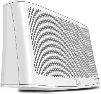 iLuv  Wavecast portabler Bluetooth Stereo Lautsprecher - weiß