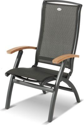 Hartman Klappsessel Da Vinci Teak, Aluminium/Textilene, 130 kg Belastb.