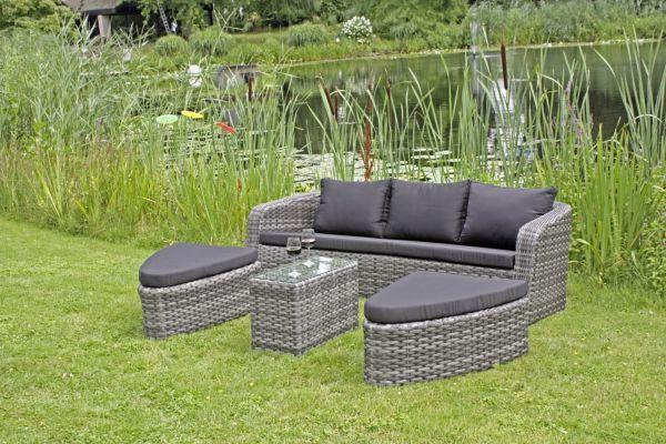 garden pleasure sofa set catania gartengruppe relaxliege loungegruppe. Black Bedroom Furniture Sets. Home Design Ideas
