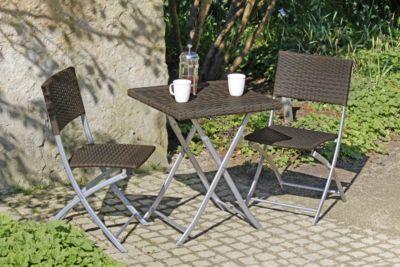 Garden Pleasure  Balkon Set, 3-teilig coffee