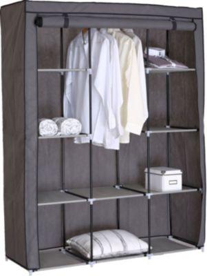 Falt-/Kleiderschrank RIMINI groß, grau