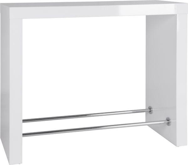 bartisch brunch barm bel stehtisch bistrotisch tisch wei hochglanz chrom ebay. Black Bedroom Furniture Sets. Home Design Ideas