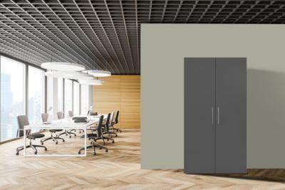 Respekta Schrankküche SKWGMI weiß grau inkl. Mikrowelle - Pantryauflage mit Duokochfeld
