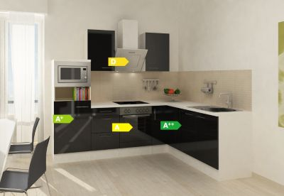 respekta premium winkelk che rp260escmis 260 x 200 cm schwarz eiche grau nachb plus de. Black Bedroom Furniture Sets. Home Design Ideas
