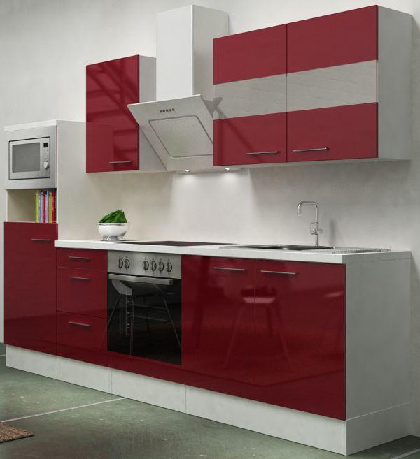 respekta premium k chenzeile rp270wwcmis 270 cm wei. Black Bedroom Furniture Sets. Home Design Ideas