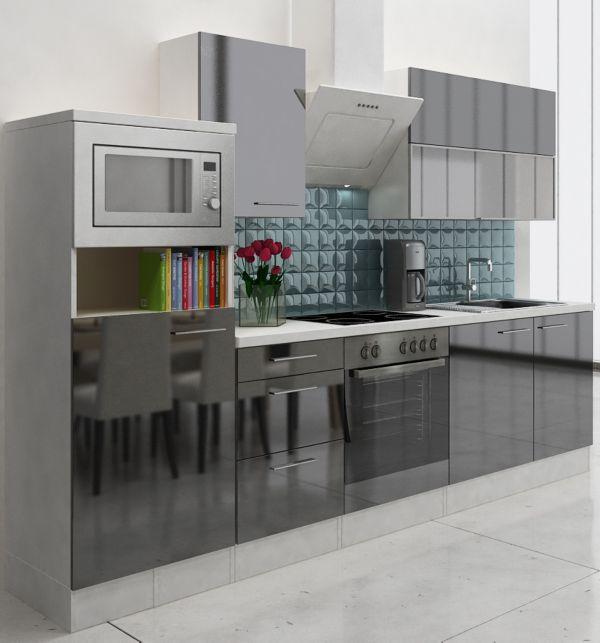 Respekta premium kuchenzeile rp280wwcmis 280 cm weiss for Respekta küchen erfahrungen