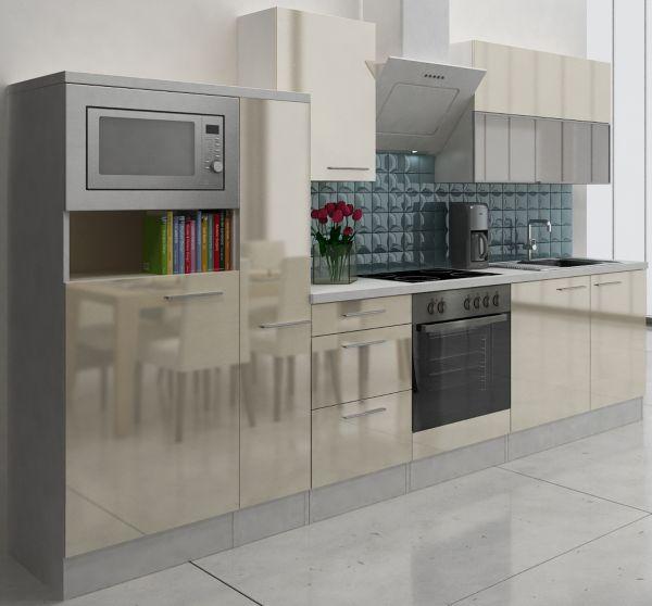 respekta premium k chenzeile rp310wwcmis 310 cm wei k chen k che k chenblock ebay. Black Bedroom Furniture Sets. Home Design Ideas