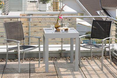 Merxx Balkon-Set Milano, 3-tlg. schwarz | Garten > Balkon > Balkon-Sets | Merxx