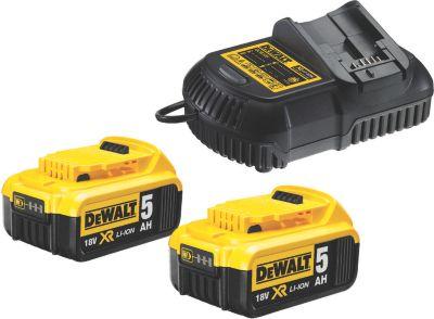 DeWalt  DCB115P2-QW Akku-Kit (2x18 V / 5,0 Ah Akku + Schnellladegerät)