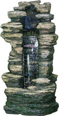 Ubbink AcquaArte Gartenbrunnen-Set Cleveland 180 cm x 91 cm x 70 cm LED
