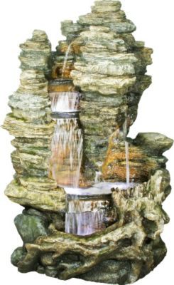 Ubbink AcquaArte Gartenbrunnen-Set Miami 157 cm x 106 cm x 83 cm LED