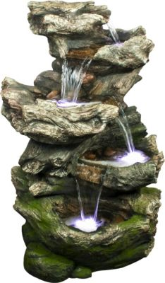 Ubbink AcquaArte Gartenbrunnen-Set Norfolk 119 cm x 75 cm x 53 cm LED