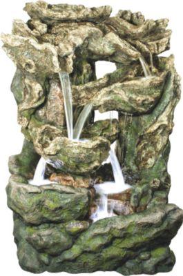 Ubbink AcquaArte Gartenbrunnen-Set Dallas 206 cm x 144 cm x 123 cm LED