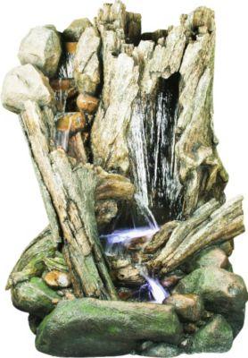 Ubbink AcquaArte Gartenbrunnen-Set San Diego 202 cm x 148 cm x 110 cm LED