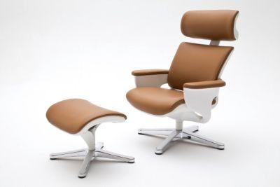 MCA Relax-Sessel Favorite 1inkl. Hocker, Rindsleder