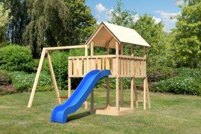 Findus Spielturm mit Anbau, Rutsche und Schaukelanbau