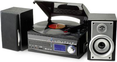 MCD1700 klassischer UKW/MW Stereo-Musikcenter mit CD, Plattenspieler, Kassettenteil und encoding Funktion