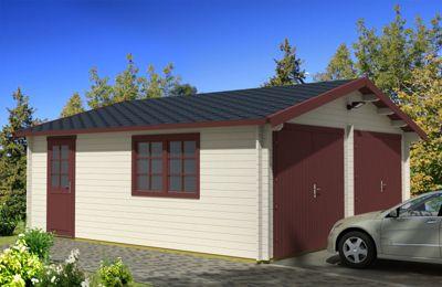 Tene Kaubandus 40-D 40 mm Doppelgarage | Baumarkt > Garagen und Carports > Garagen | Holz | Tene Kaubandus