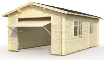 Palmako Roger 19 m² Garage mit Schwingtor | Baumarkt > Garagen und Carports > Garagen | Palmako