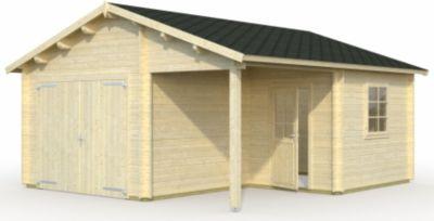 Palmako Roger 21,9 m² Garage mit Holztor | Baumarkt > Garagen und Carports > Garagen | Palmako