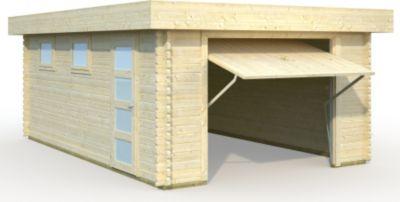 Palmako  Garage Rasmus 19,0 m² mit Sektionaltor