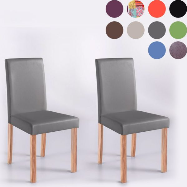 2x polsterstuhl billi kunstleder esszimmerstuhl patchwork buche massiv ebay. Black Bedroom Furniture Sets. Home Design Ideas