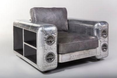 Echtleder Sessel im Flugzeugdesign