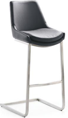 Design-Barhocker-Schwingstuhl 1121, schwarz