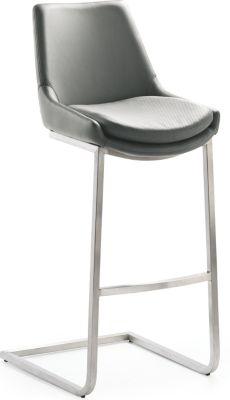 Design-Barhocker-Schwingstuhl 1121, grau