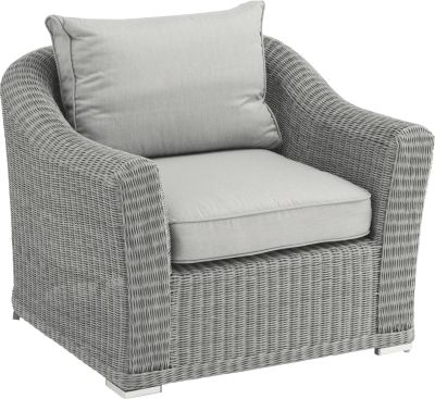 Lounge-Sessel Oxford, white-wash