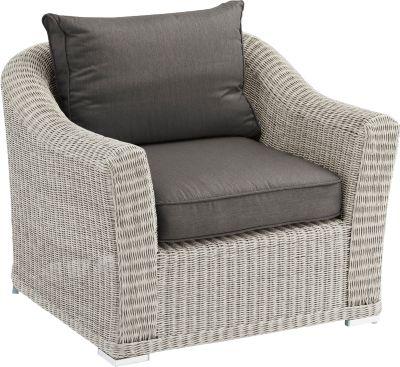 Lounge-Sessel Oxford, beach white