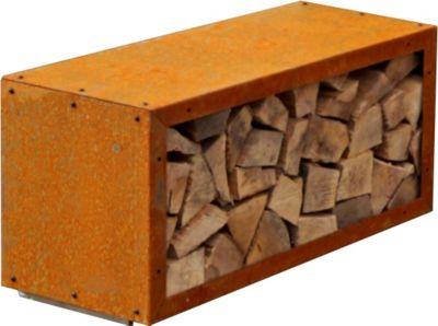 Kaminholzregal Edelrost, 78x35x38 cm