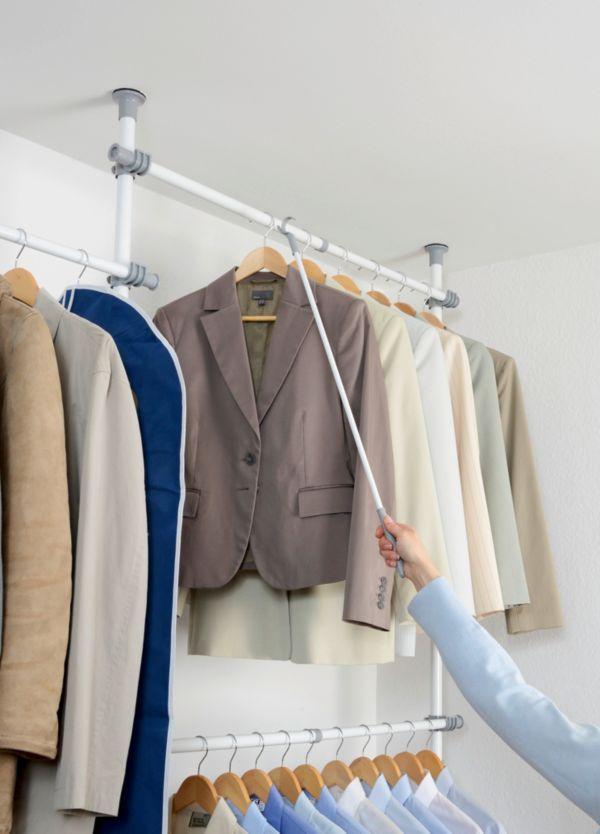 wenko teleskop garderobensystem herkules kleiderstange kleiderhaken garderobe ebay. Black Bedroom Furniture Sets. Home Design Ideas